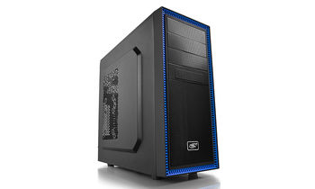"DEEPCOOL ""TESSERACT BF"" ATX Case,  without PSU, Massive metal mesh, Tool-less, 1x 120mm rear fan, up to 3x 2.5"" HDD/SSD, Bottom loaded PSU, 1xUSB3.0, 1xUSB2.0 /Audio, Black"