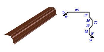купить Ветровая планка фигурная RAL-8017 (коричневый)  1.25м в Кишинёве