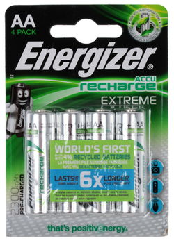 Energizer Rechargeable Extreme AA 2300mAh, FSB4 (blister)