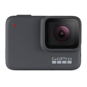 Action Camera GoPro HERO7 Silver, Photo-Video Resolutions: 10MP/15FPS-4K30, 2x slow-motion, waterproof 10m, voice control, 2x microphones, video stabilization, touch screen, WDR, GPS, Wi-Fi, Bluetooth, USB-C, Battery 1220mAh, 94.4g