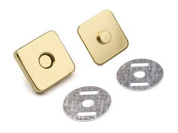 Capse magnetice pătrate, 18x18 mm / auriu