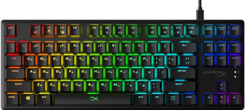 HYPERX Alloy Origins Core RGB Mechanical Gaming Keyboard (RU), Mechanical keys (HyperX Red key switch) Backlight (RGB), 100% anti-ghosting, Ultra-portable design, Solid-steel frame, Convenient USB charge port, USB