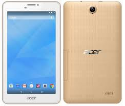 "7.0""  Acer Iconia B1-723 (NT.LBSEE.002) White Gold, DUALSim, 7.0"" IPS 1024x600, MTK8321 Quad-Core 1.3GHz, 1GB RAM, 16GB, 3G (Voice Call Support), GPS, 5MPx+2MPx Cam, WiFi-N/BT4.0, MicroUSB (OTG Support), MicroSD, Android 5.1, 3380mAh up to 8hr, 280g"