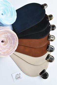 Clapă cu închizătoare pentru geantă/rucsac, Crem