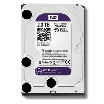 "3.5"" HDD 2.0TB  Western Digital WD20PURZ Caviar® Purple™, IntelliPower, 64MB, SATAIII"