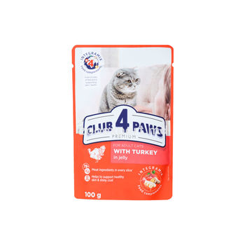 Club 4 Paws Premium индейка в желе 100 gr