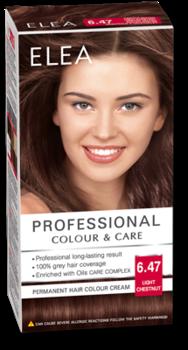 Краска для волос,SOLVEX Elea, 138 мл., 6.47 - Светлый каштан