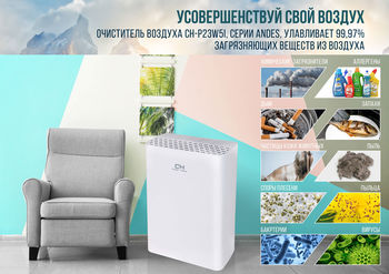 купить Очиститель воздуха Cooper&Hunter Andes CH-P23W5I в Кишинёве