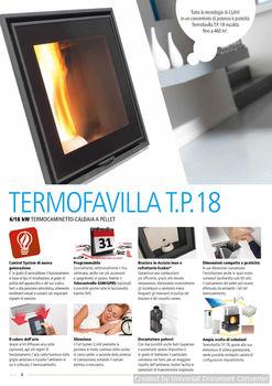 Термокамин пеллетный - CLAM TERMOFAVILLA T.P.18