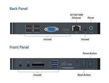 Ubiquiti UniFi NVR UVC-NVR-2TB, CPU Intel D2550, 4GB, Internal Storage 2TB, MP4 (H.264/AAC), 4800h 480p or 1600h 720p, 700h 1080p, 1x10/100/1000 Mbps Ethernet port, 2xUSB 3.0, Card Reader (videoregistrator de retea/сетевой видеорегистратор)