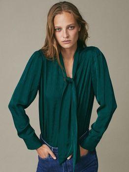 Блуза Massimo Dutti Зеленый 5139/586/500