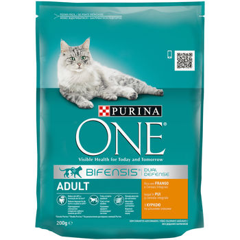 купить Purina One Adult Cat Chicken & WhlG 200 gr в Кишинёве