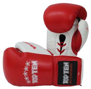 """Боксерские перчатки """"Pro"""" - Top Ten Красные"""