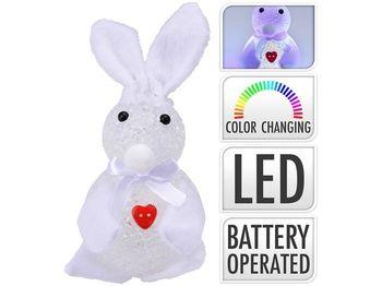 """Сувенир светящийся """"Кролик с сердцем"""", 15cm, белы"""