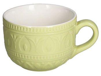 Чашка для завтрака 600ml jumbo Relief Verde