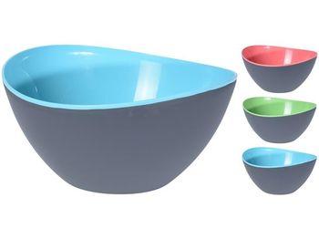 Салатница пластиковая EH 3.4l, 25cm, внутри разных цветов