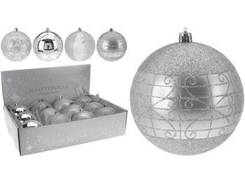 cumpără Glob p-u brad cu ornament 80mm argintiu în Chișinău