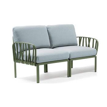 Диван с подушками Nardi KOMODO 2 POSTI AGAVE-ghiaccio Sunbrella (Диван с подушками для сада и терас)