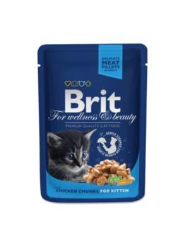 купить Brit Premium Cat Pouches Chicken Chunks for Kitten(Кусочки c курочкой. Влажный корм класса премиум для котят) в Кишинёве