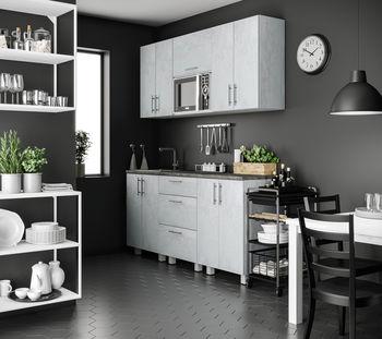 Кухня 1800 МДФ Mat Grey Stone