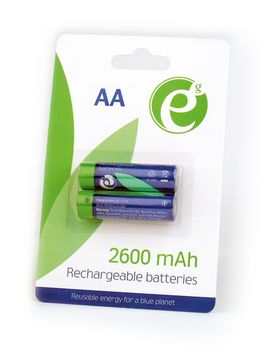 EnerGenie EG-BA-AA26-01 Ni-MH rechargeable AA batteries, 2600mAh, 2pcs blister pack