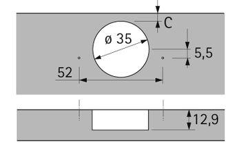 Balama încadrată + 40° Sensys
