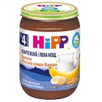 купить Hipp Good Night пюре манный десерт с бананами, 4+мес. 190г в Кишинёве