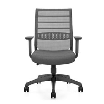 купить Офисный стул с темно-коричневой сетчатой спинкой и темно-коричневым сиденьем в Кишинёве