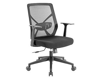 Lumi Premium High-Back Mesh Office Chair CH05-3, Black, Pneumatic Seat-Height Adjustment, 320mm Nylon Base, 50mm PU Caster, 80mm Class 3 Gas Lift, Weight Capacity 150 Kg
