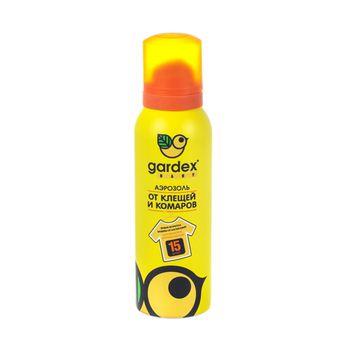 купить Репеллент Gardex Baby Аэрозоль от клещей и комаров на одежду 15 сут, 100 ml, 0148 в Кишинёве