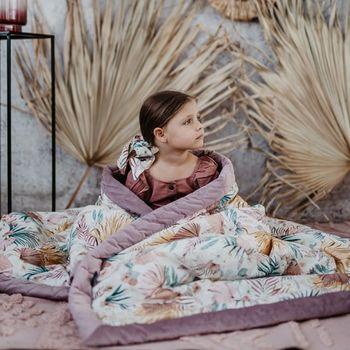 купить Одеяло La Millou велюр+хлопок Boho Royal Arrows / Grey 140x200 см в Кишинёве