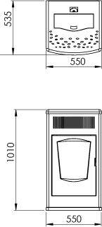 купить Печь пеллетная  - TEBA TР-10 в Кишинёве