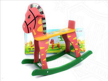 Кресло-качалка лошадка деревянная