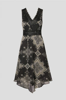 Платье ORSAY Черный с принтом