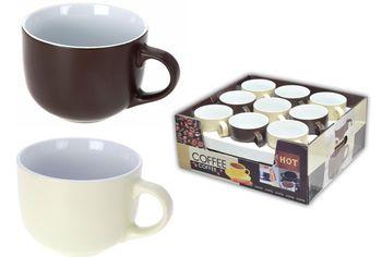 Чашка для супа 450ml, коричневая/бежевая