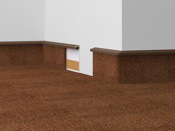 купить Плинтус DOELLKEN для ковровых покрытий TLE 55, №214 бежевый в Кишинёве