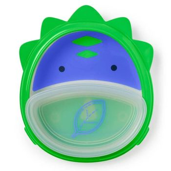 купить Набор Skip Hop Zoo Smart Тарелка и миска Динозаврик в Кишинёве