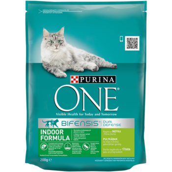 купить Purina One Indoor Formula Cat Turkey  200 gr в Кишинёве