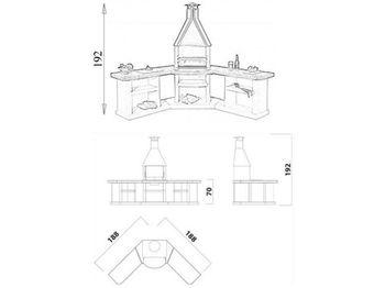 купить Угловой комплекс барбекю - BBQ AVANTA EXCLUSIVE в Кишинёве