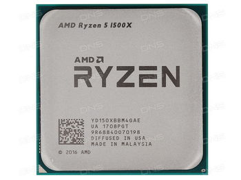AMD Ryzen 5 1500X (4C/8T), Socket AM4, 3.5-3.7GHz, 16MB L3, 14nm 65W, BOX (with Wraith Spire 95W Cooler)