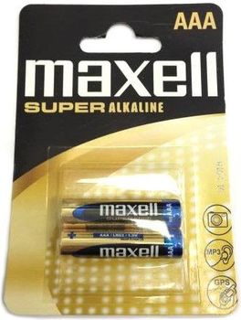 MAXELL Super Alcaline Battery LR03/AAA 2pcs, Blister pack
