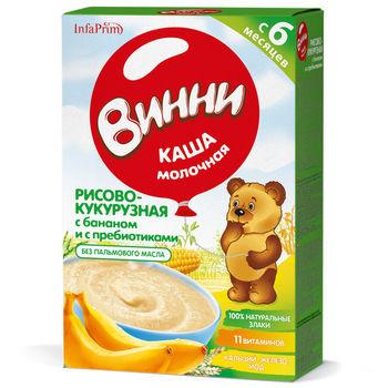 cumpără Vinni Terci Lapte cu orez, porumb, banane și prebiotice 200g în Chișinău