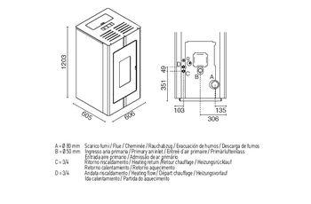 Печь пеллетная с водяным контуром - TOSCA 24 кВт