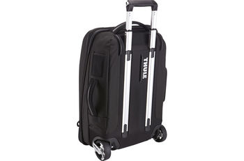 "THULE Travel Bag - Crossover Carry-on 22""/56cm, Black, Safe-zone, Dobby Nylon, Dimensions 38.5 x 21 x 56 cm, Weight 3.5 kg, Volume 38L, Hybrid Backpack and Roller Bag"