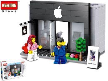 Конструктор HSANHE mini street Apple store 26X18X5cm, 193дет