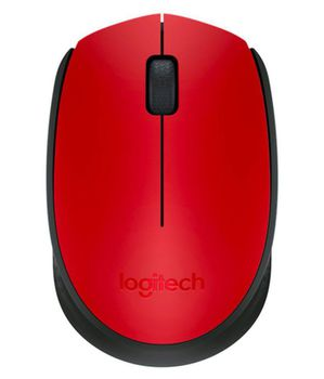 Logitech Wireless Mouse M171 Red, Optical Mouse for Notebooks, Nano receiver,  Red, Retail