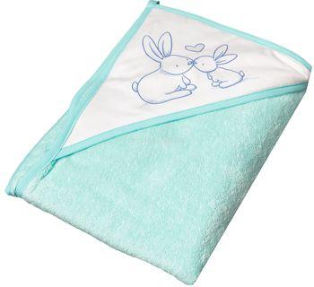 купить Полотенце махровое Tega baby с капюшоном (100х100 см) мятное в Кишинёве