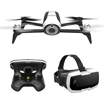 (41150) Parrot Bebop 2 FPV / White - Drone, RC-Parrot Skycontroller 2, Parrot Cockpitglasses, 14MP, 1080p Full HD 30fps fish-eye lens camera, Parrot Digital Stabilisation, max. 2000m radius/16 mps speed, flight time 25 min, Battery 2700 mAh, 500g
