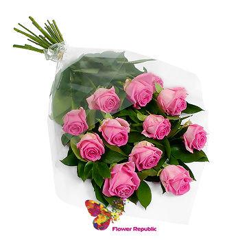 cumpără Buchet roz de 11 trandafiri  60-70CM în Chișinău