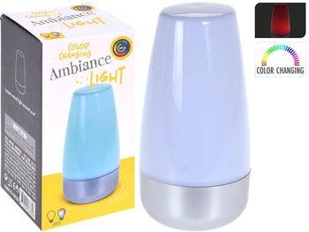 Ночник-лампа 2LED, D7.5cm,H15cm,2 режима,разноцветный, 3ААА